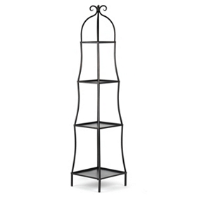 Black 4-Tier Etagere Shelf