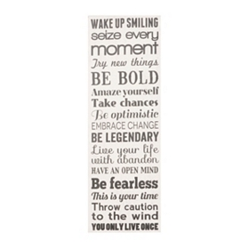 Wake Up Smiling Canvas Art Plaque