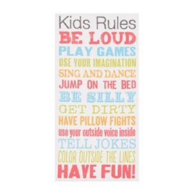 Kids Rules Canvas Art Print