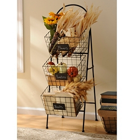 3-Tier Basket Tower