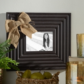 Burlap Bow Picture Frame, 5x7