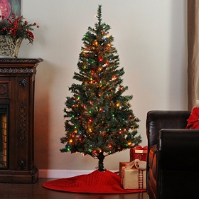 5.5 ft. Full Christmas Tree with Color Lights