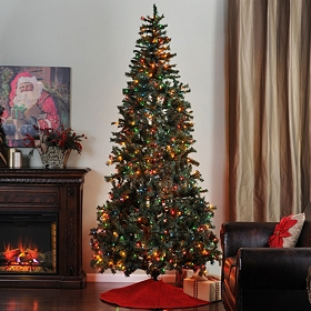 9 ft. Full Christmas Tree with Color Lights