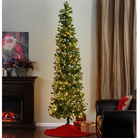 9 ft. Slim Christmas Tree with White Lights