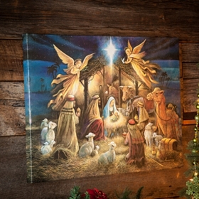 Blessed Nativity Canvas Art Print