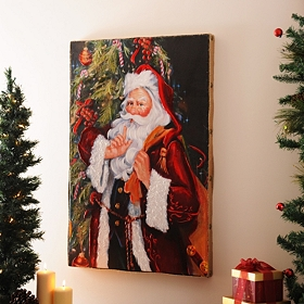 SHH! Santa Canvas Art Print