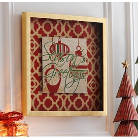Season's Greetings Shadow Box Print