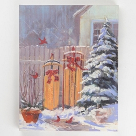 Sledding Canvas Art Print