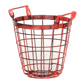 Small Red Wire Basket