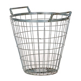 Large Blue Wire Basket