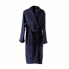 Navy Blue Men's Robe