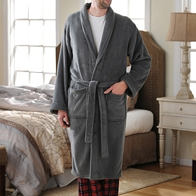 Gray Men's Robe