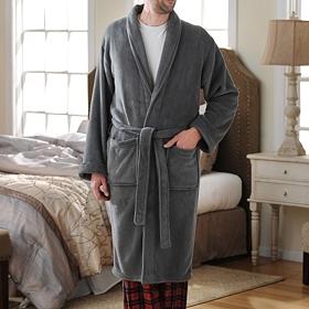 Gray Men's Robe