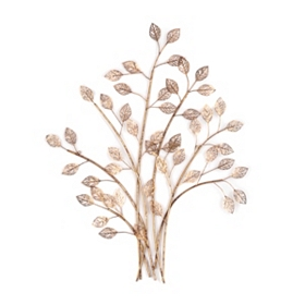 Golden Tree Metal Wall Art