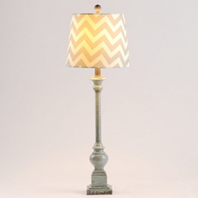Vintage Chevron Buffet Lamp