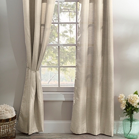 Taupe Curtain Panel Set, 96 in.