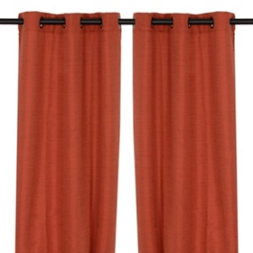 Spice Orange Curtain Panels, 96 in.