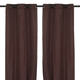 Chocolate Brown Curtain Panels, 96 in.