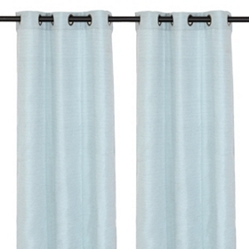 Ice Blue Curtain Panel Set, 96 in.
