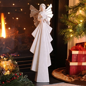 Angel & Harp Statue, 25 in.