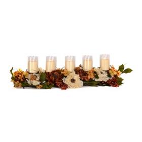 Hydrangea & Peony Candle Centerpiece