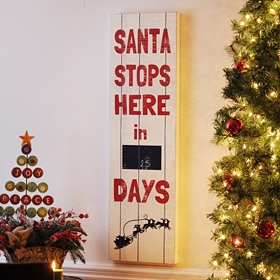 Santa Stops Here Countdown Sign