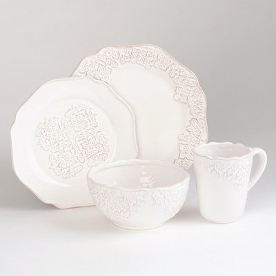 Bianca Medallion 16-pc. Dinner Set