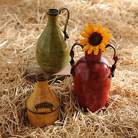 Farmhouse Jug Ribbed Vase, Set of 3