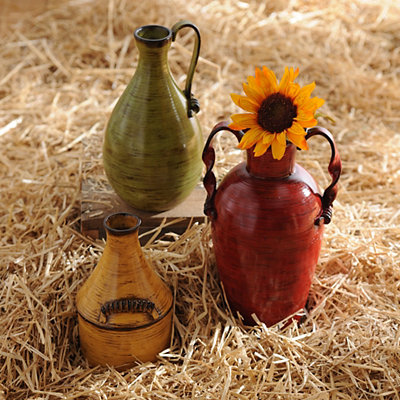 Farmhouse Jug Ribbed Vase, Set of 3