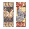 Wooden Slat Rooster Plaque