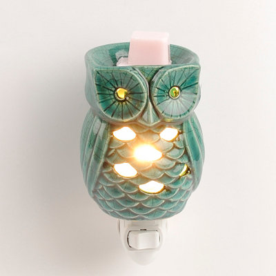 Turquoise Owl Tart Burner Night Light