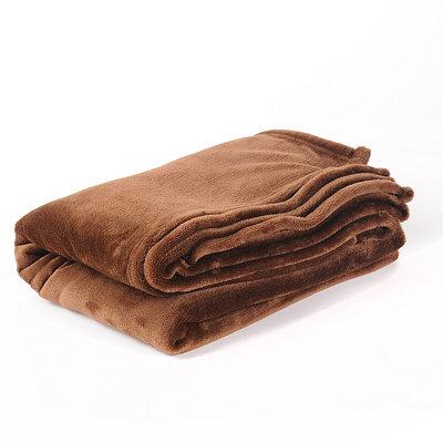 Chocolate Luxury Plush Throw Blanket