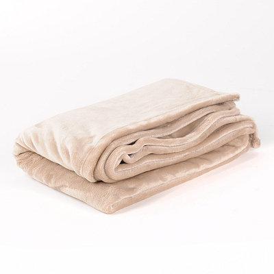 Tan Luxury Plush Throw Blanket