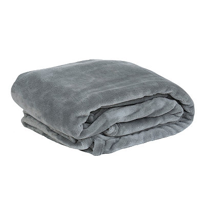 Gray Luxury Plush Throw Blanket
