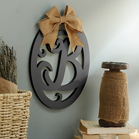 Wooden Monogram Wall Plaque