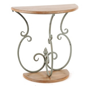 Bella Demilune Weathered Console Table