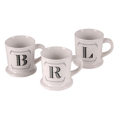 Black & White Monogram Mug