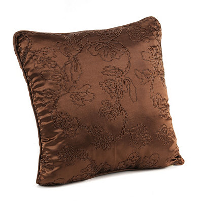 Chocolate Corded Vine Accent Pillow