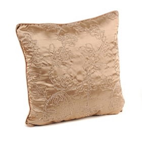 Tan Corded Vine Accent Pillow