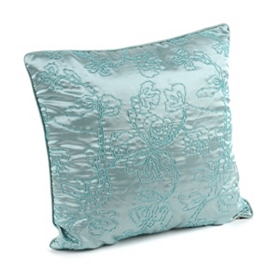 Blue Corded Vine Accent Pillow