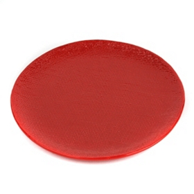 Red Textured Dinner Plate