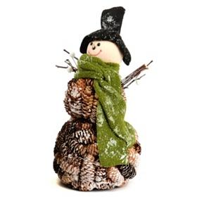 Pine Cone Snowman, 13.5 in.