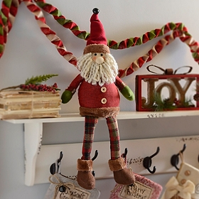 Rustic Santa Shelf Sitter