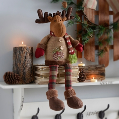 Rustic Reindeer Shelf Sitter