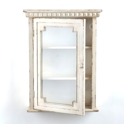 Distressed Cream Wall Unit