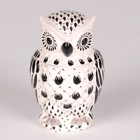 Black & White Owl Cookie Jar