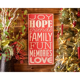 Vintage Joy & Hope Art Plaque