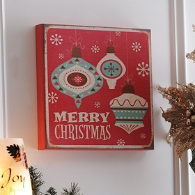 Vintage Merry Christmas Art Box
