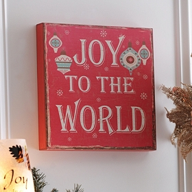 Vintage Joy to the World Art Box