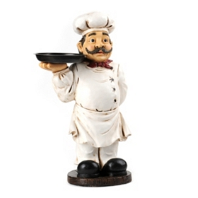 Chef with Tray Statue